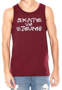 Regata Skate Eterno Vm Eterno Bordô 52bfe2abee8