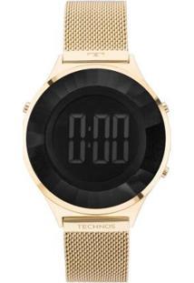 Relógio Technos Crystal Digital 4P 40Mm Aço Feminino - Feminino-Dourado