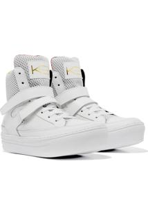 Sneaker K3 Fitness Smooth Branco - Kanui