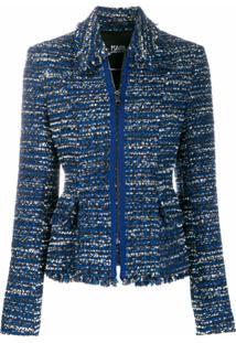 Karl Lagerfeld Jaqueta De Tweed - Azul