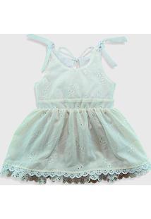 Vestido Infantil Ummi Peace Em Renda Guipure Branco