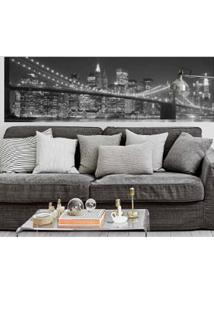 Painel Fotográfico Adesivo New York 2,13Mts X 61Cm Preto E Branco Grudado Adesivos
