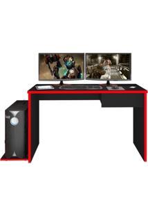 Mesa Para Computador Notebook Desk Game Drx 8000 Preto/Vermelho - Mpozenato