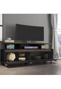 Rack Para Tv Até 60 Polegadas 2 Portas Cinamomo/Preto Fosco - Bechara