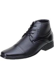 Sapato Social San Lorenzo Cano Curto Masculino - Masculino-Preto
