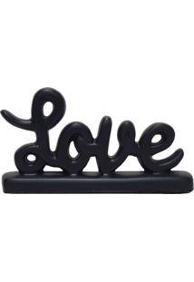 Escultura Decorativa Mini Love Preta