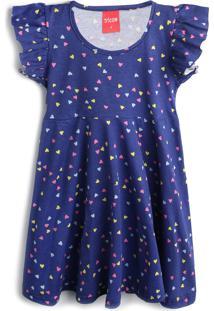 Vestido Tricae Coração Azul