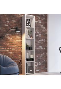 Estante Para Livros 5 Prateleiras Mo050 Branco - Art In Móveis