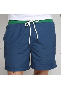 Shorts Forum Color Block Masculina - Masculino-Azul Escuro