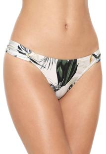 Calcinha Live! Tanga Butterfly Lightness Off-White/Verde