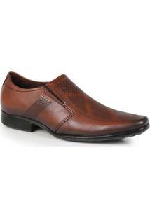 Sapato Social Masculino Pegada Slip Castanho