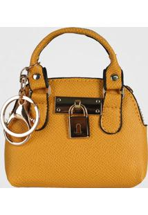 Porta Moedas Chaveiro Mini Bag Le Postiche (Coral, Único)