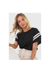 Camiseta Forum Listras Preta/Branco
