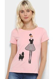 Camiseta Top Modas Desenho Y Feminina - Feminino-Rosa