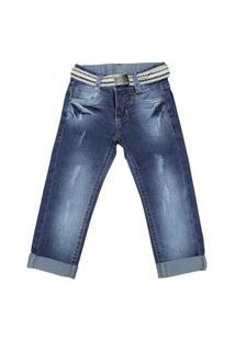 Calça Jeans Com Cinto Via Onix