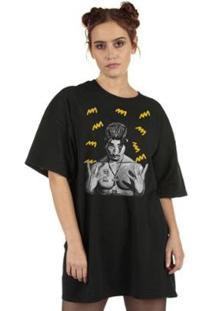Camiseta Tupac Yellow - Feminino-Preto