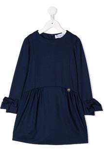 Simonetta Vestido Decote Arredondado - Azul