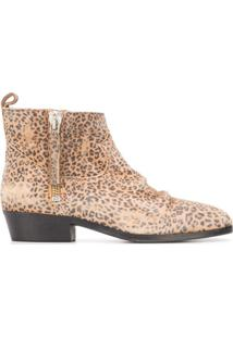 Golden Goose Ankle Boot Com Estampa De Leopardo - Neutro