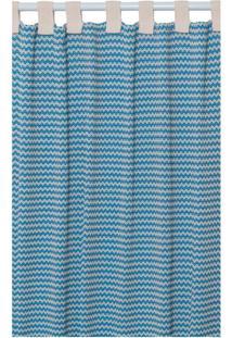 Cortina Campestre Para Varão Azul E Bege (240X300)