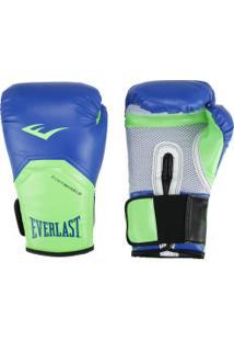 Luvas De Boxe Everlast Pro Style Elite 14 Oz - Azul/Verde Cla
