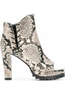 Allsaints Ankle Boot Peep Toe Micaela - Neutro