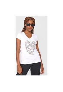 Camiseta Polo Wear Love Branca