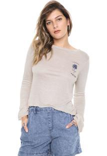 Camiseta Roxy Pipeline Bege - Bege - Feminino - Dafiti