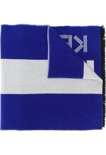 Kenzo Cachecol Com Listras - Azul