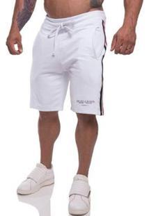 Bermuda Top Fit Style Masculina - Masculino-Branco