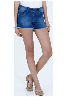 Short Juvenil Jeans Desfiado Marisa