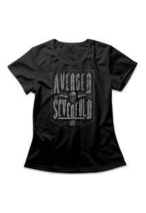 Camiseta Feminina Avenged Sevenfold Preto