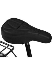Capa De Banco Almofada Para Bike Em Gel 3D Super Macio - Unissex-Preto