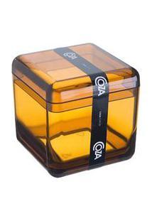 Porta Algodão Cube Mel 20879/0456 - Coza - Coza