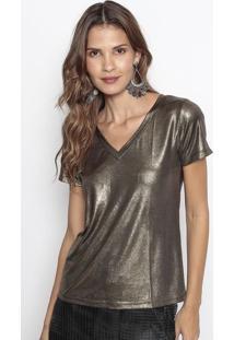 Camiseta Metalizada- Dourada- Us2Us2