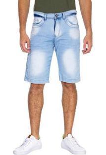 Bermuda Jeans Slim Tng Masculina - Masculino-Azul Claro