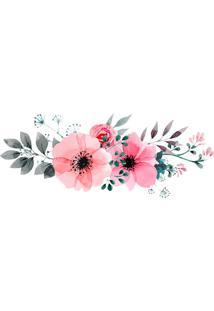 Adesivo De Parede Para Quarto Flores Rosa 160 Cm
