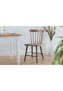 Cadeira De Madeira Folk Verniz Capuccino 45X46X83Cm