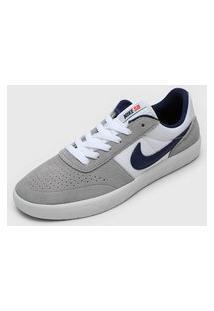 Tênis Nike Sb Flex Cs Cinza/Azul-Marinho