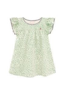 Vestido Primeiros Passos Abrange Oncinha Verde Abrange Casual Verde