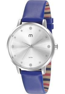 Kit De Relógio Analógico Mondaine Feminino + Pulseira - 53962L0Mgnh1K Azul
