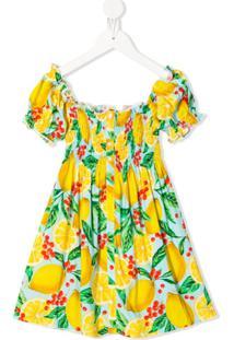 Mc2 Saint Barth Kids Vestido Lemon Taste - Amarelo