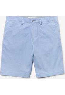 Bermuda Lacoste Regular Fit Masculina - Masculino-Azul Claro
