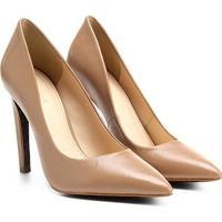 0687f37e7 Scarpin Couro Shoestock Salto Alto Animal Print - Feminino-Nude
