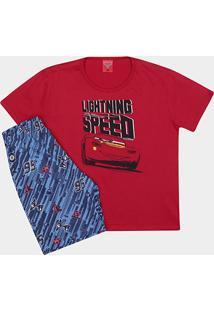 Pijama Infantil Lupo Carros Speed Curto Masculino - Masculino