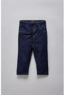Calça Masculina Infantil Bb Jeans Bolso Basico Reserva Mini - Masculino-Marinho