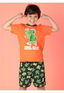 f0b1bd48bcbb4c Pijama Infantil Puket Jacaré - Masculino
