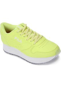 Tenis Fila Euro Jogger Wedge Sl Feminino - Feminino-Verde Limão