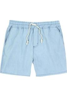 Bermuda Jeans Hering Viscose Com Amarração Masculino - Masculino-Azul