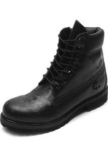 Bota Couro Timberland 6 Premium Boot Preta