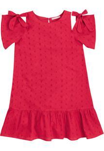 Vestido Infantil Menina Com Babados Hering Kids